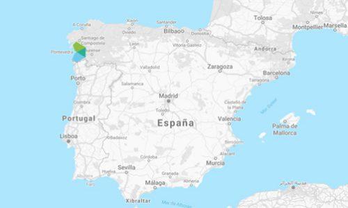 Contacto Ponturismo Galicia Mapa